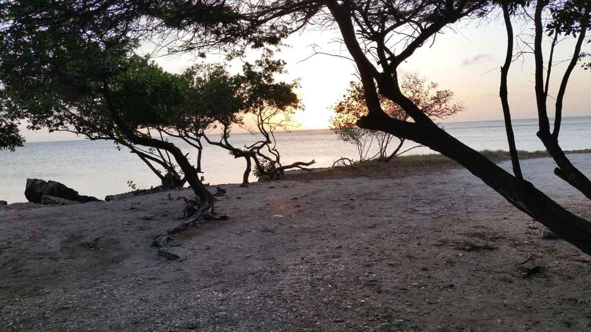 Zonsondergang Eagle Beach